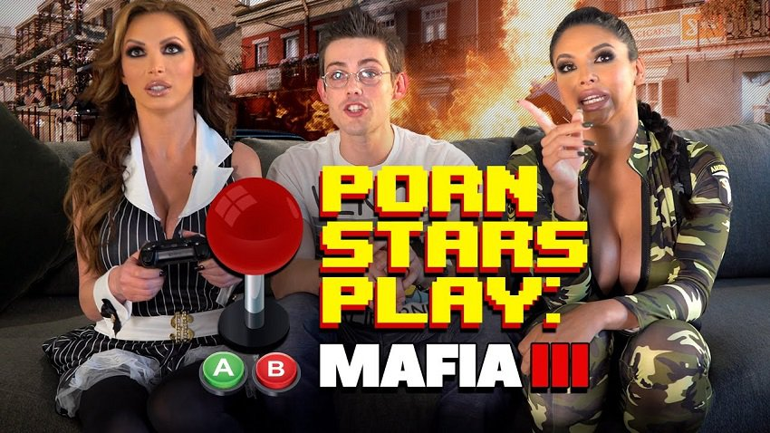 pornstars play video games