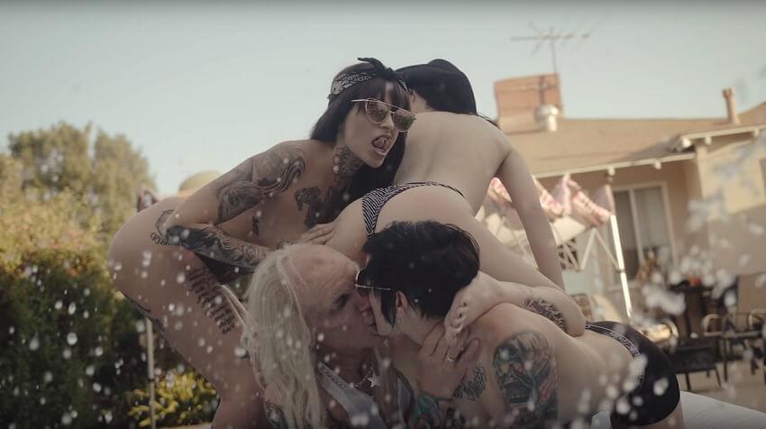 hot tattooed pornstars in steel panther music video