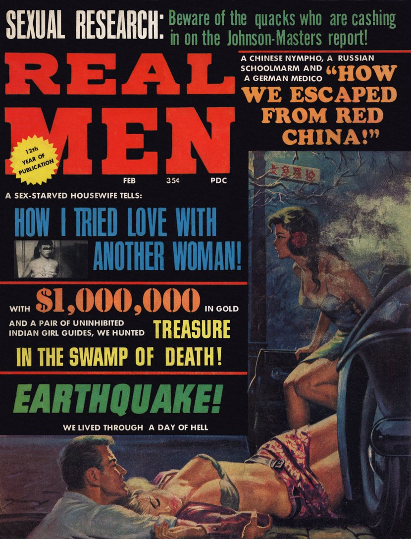 Real Men February 1967 cover