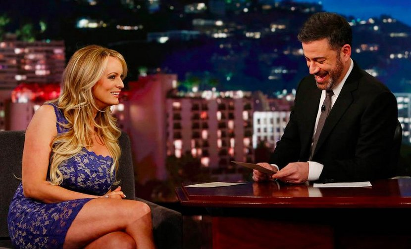 Stormy Daniels on the Jimmy Kimmel show