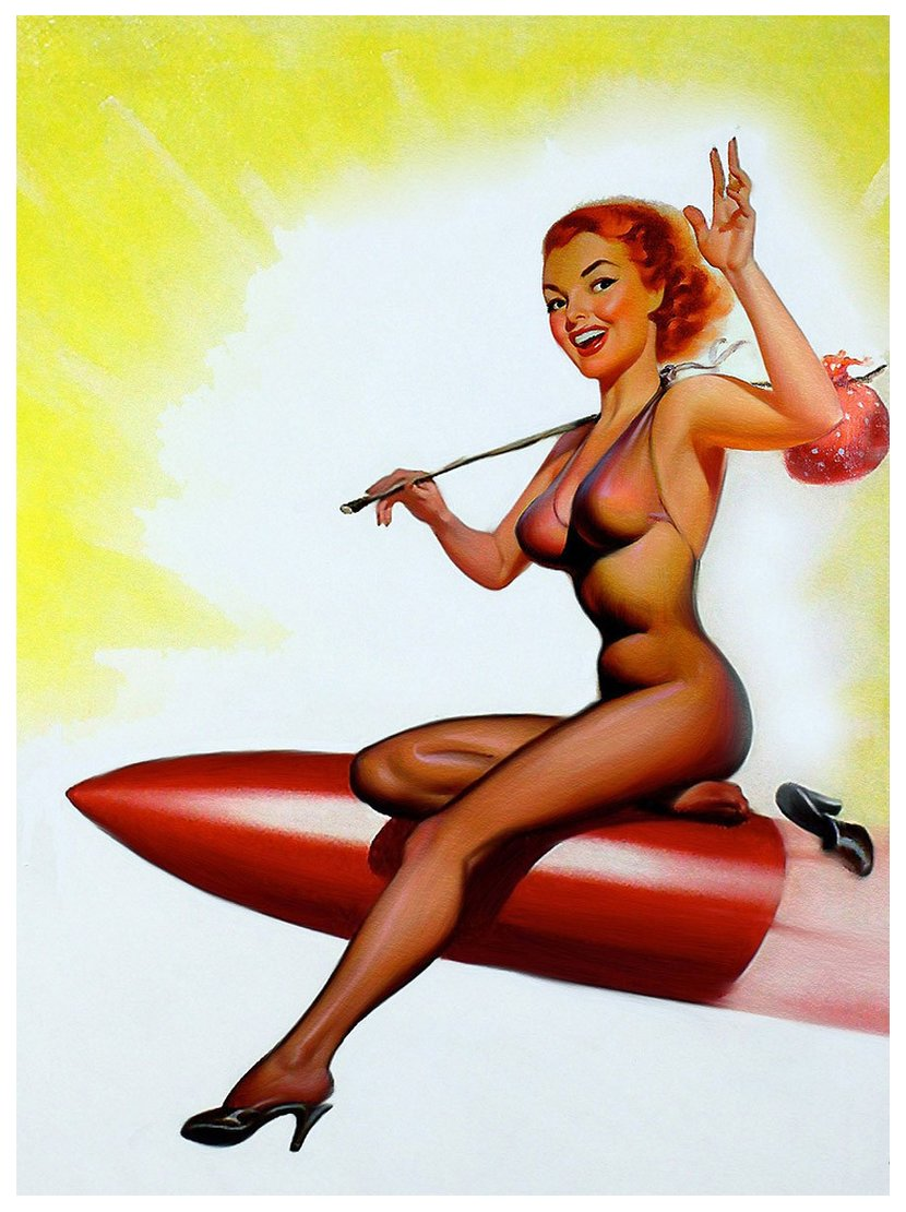 pinup art rocket rider