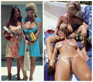 candi and uschi together clothed and naked