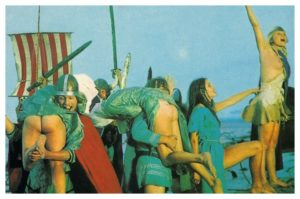 victorious vikings carry naked women ashore