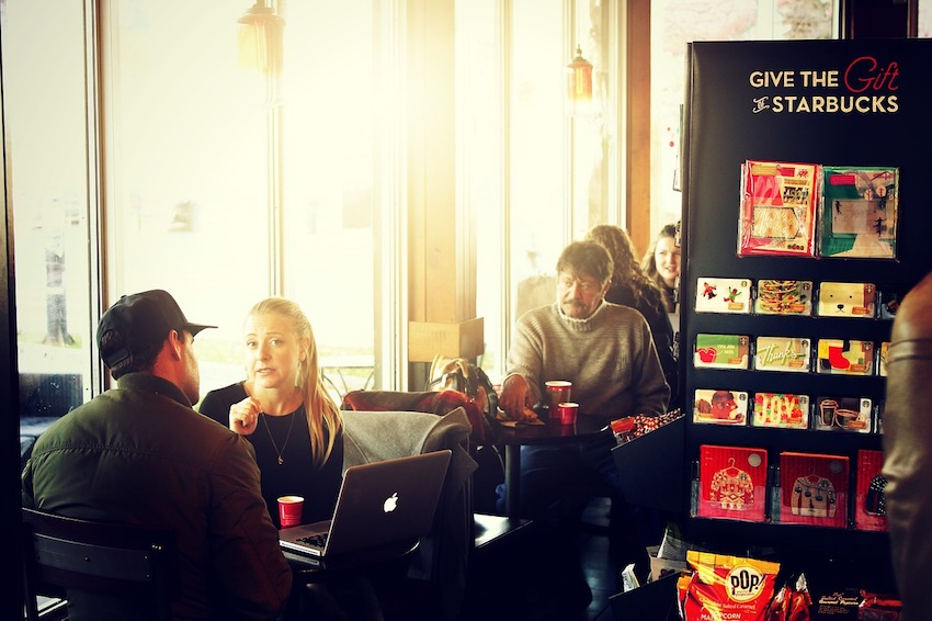 people watching porn at a starbucks coffee shop