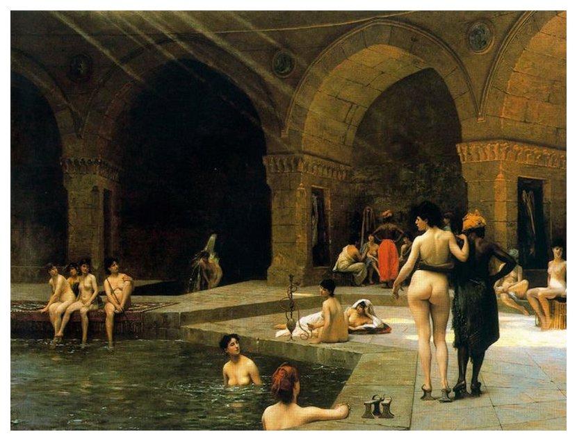 the grand bath of Bursa by Gerome