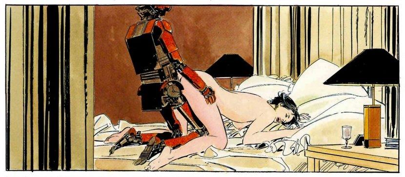 sex robot fucks woman from behind