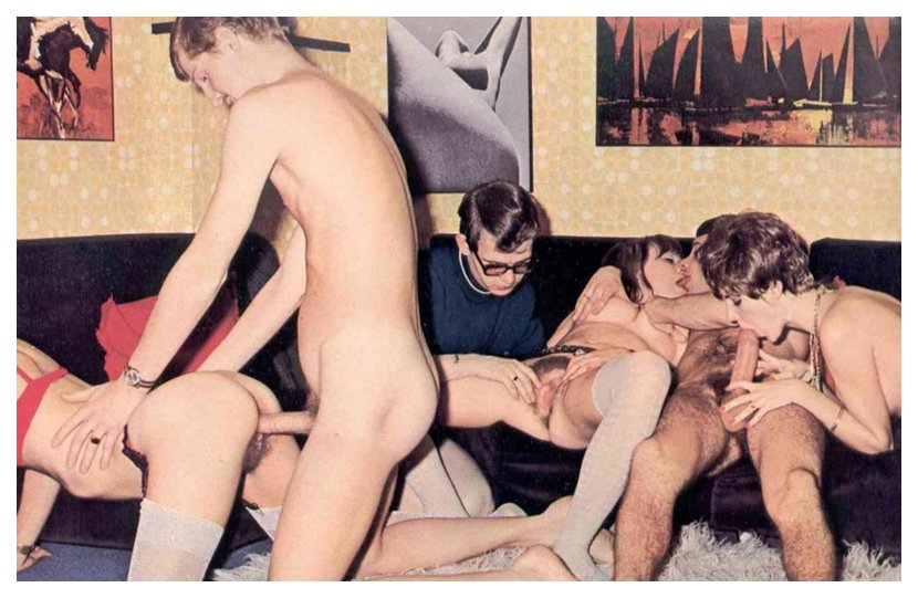 orgy at a game of spin the bottle