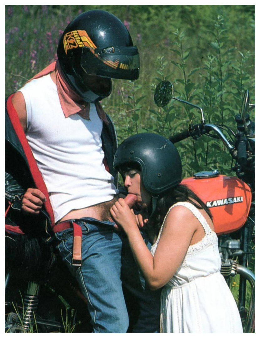 blowjob while wearing her motorcycle helmet
