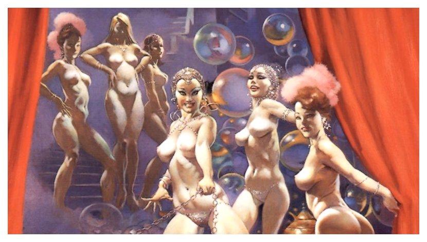 frank frazetta showgirls